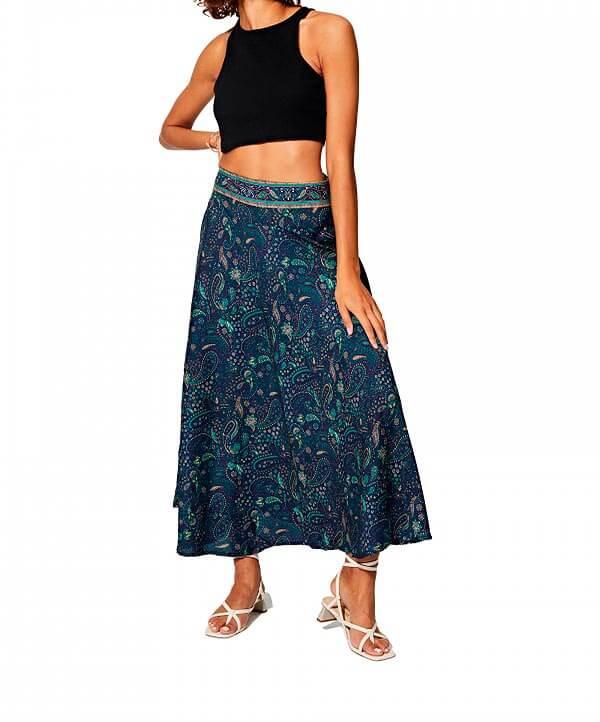 Falda larga hippie