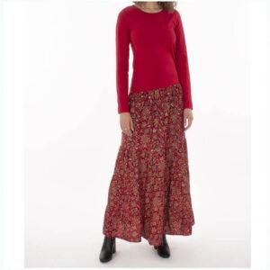Falda larga estampado étnico 1